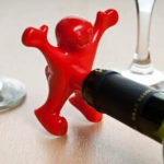 """Happy Man"" Wine Stopper & Opener Set"
