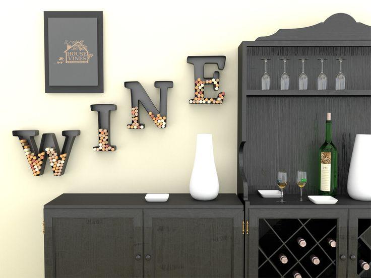 Letter Wine Cork Holder