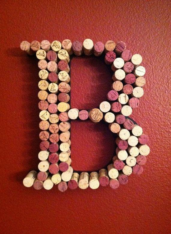 letter wine cork holder b