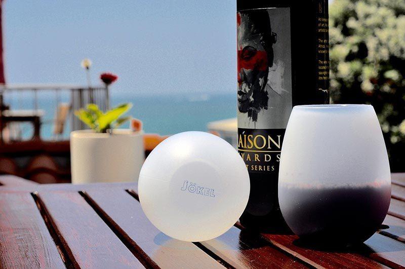 Unbreakable Rubber Wine Glasses by Jokel