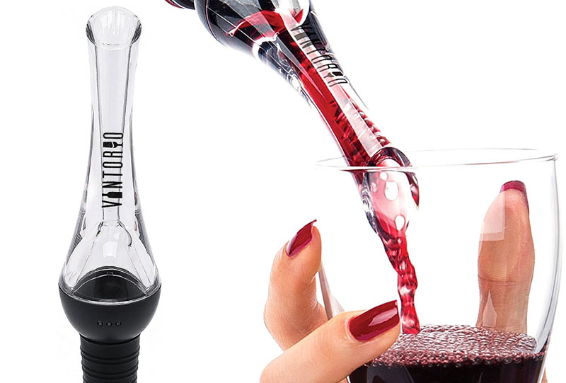 Vintorio 3-in-1 Wine Aerator, Pourer & Chiller Stick