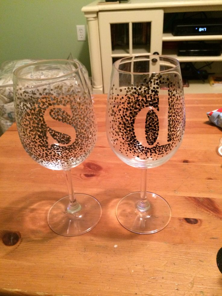 How To Decorate A Wine Glass With Paint Markers