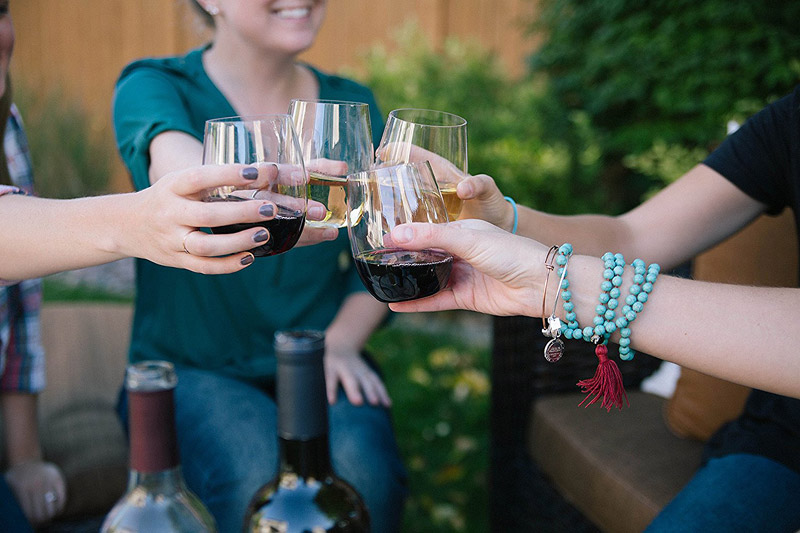 Shatterproof Stemless Wine Glasses Keep Your Cousin from Breaking All Your Glasses
